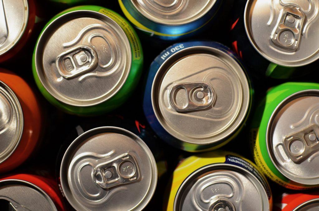 Aluminium drinks can recycling